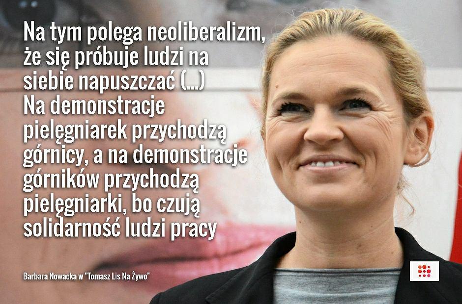 Barbara Nowacka w programie 'Tomasz Lis Na Żywo'