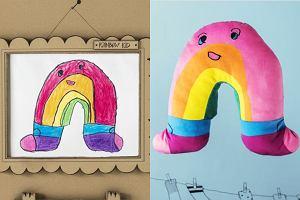 Dlaczego Tęcza nosi skarpetki? Ikea zrobiła maskotki na podstawie dziecięcych rysunków. Rozczulające!