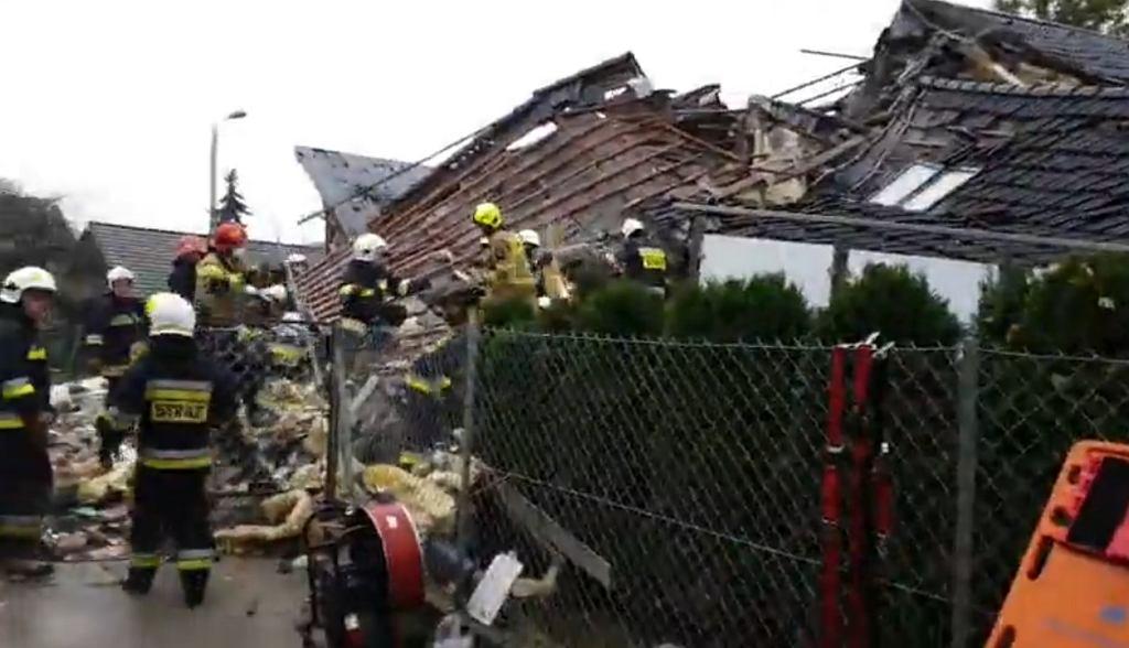 Wybuch gazu w domu jednorodzinnym w Kobiernicach na Śląsku.