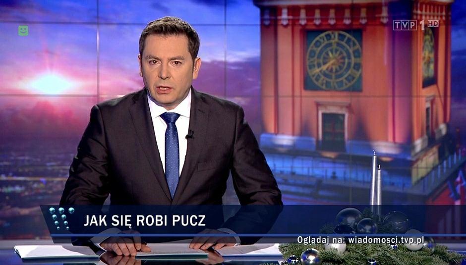 Materiał o kryzysie parlamentarnym w 'Wiadomościach' TVP