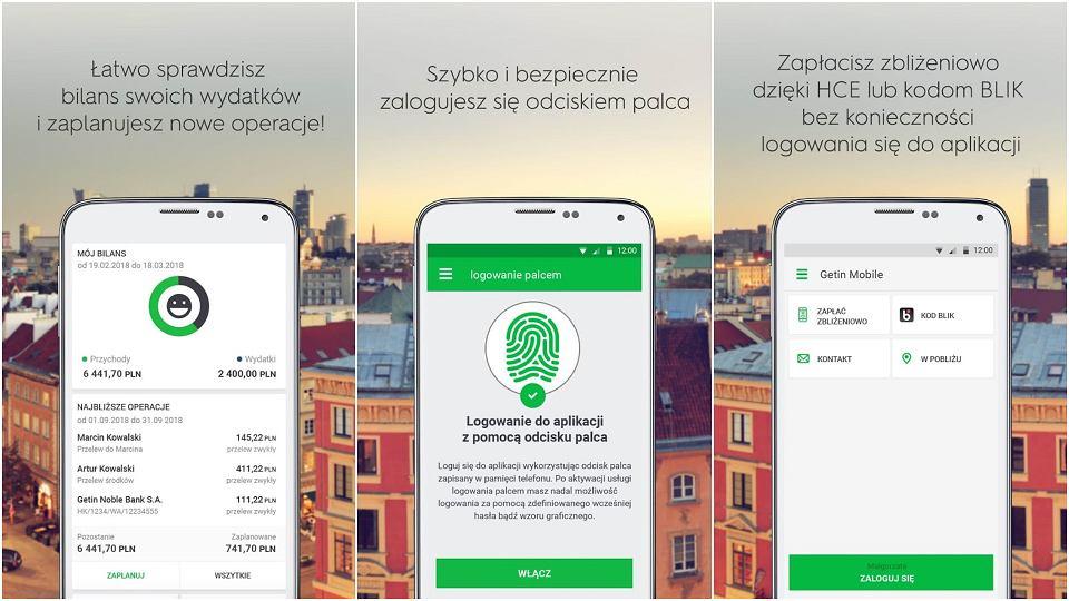 Aplikacja mobilna Getin Banku
