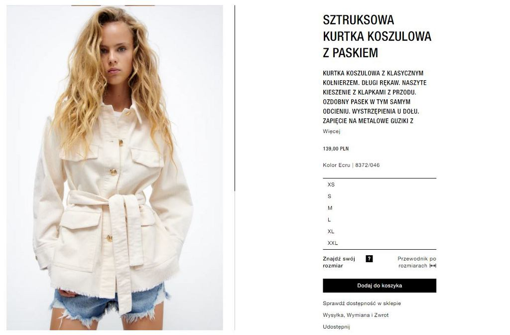 Kurtka koszulowa Zara