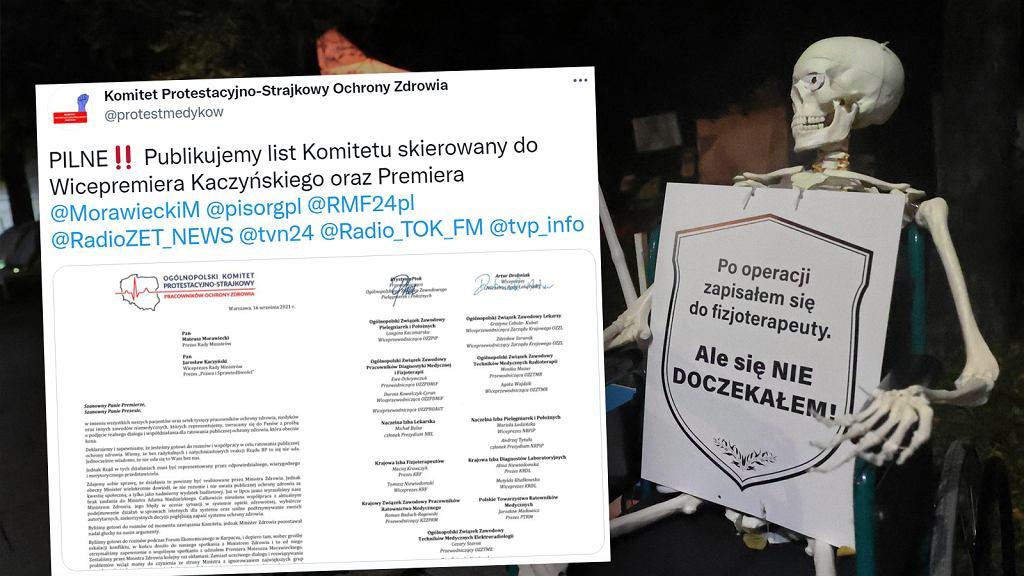 Medycy wysłali list do Kaczyńskiego i Morawieckiego
