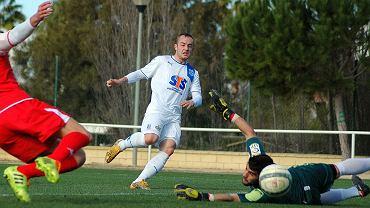 Lech Poznań - Xerez CD 4:0 w sparingu rozegranym w Costa Ballena. Gergo Lovrencsics strzela gola na 3:0