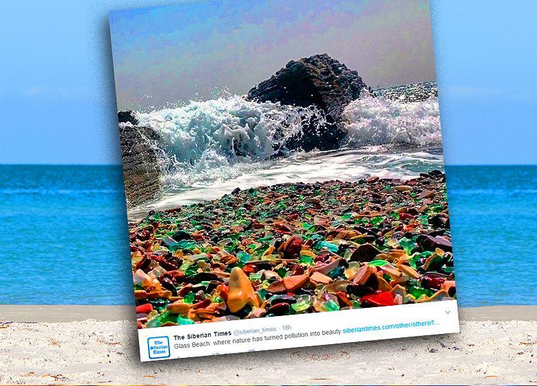 Szklana plaża stworzona na wysypisku śmieci. Jak to się stało?