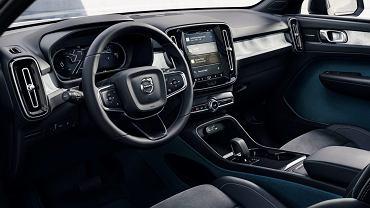 Wnętrze Volvo C40 bez naturalnej skóry