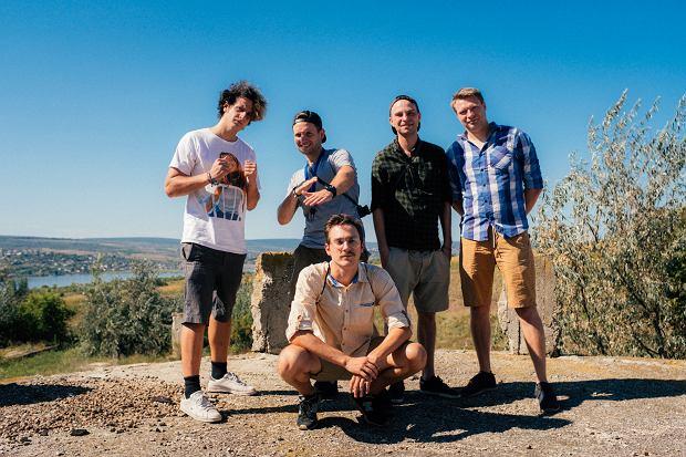 Chłopaki w komplecie, od lewej: Krzysiek, Łukasz, Oskar (kuca), Łukasz, Robert