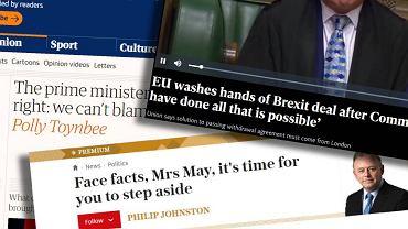 Brytyjska prasa komentuje porażkę Theresy May