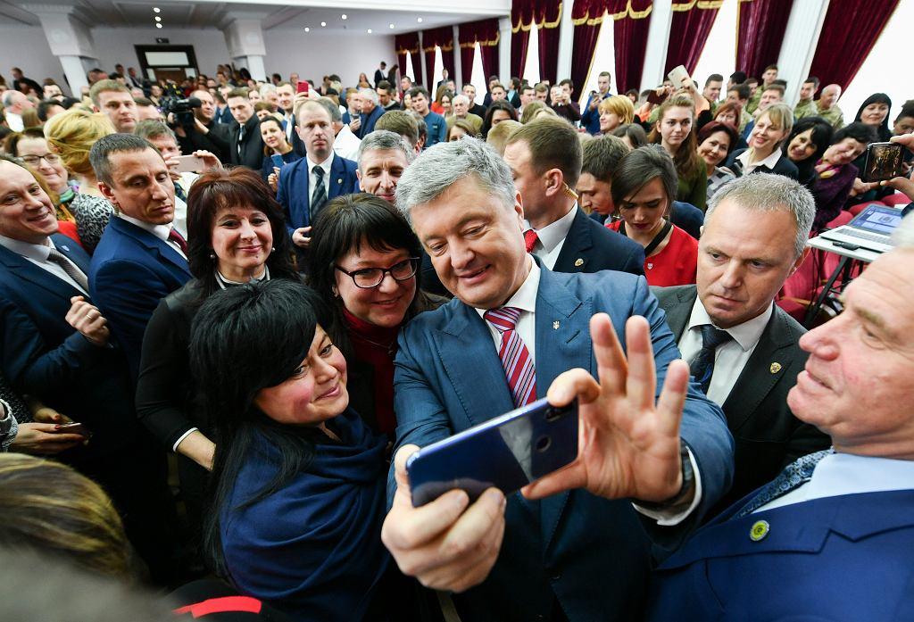 Petro Poroszenko na spotkaniu z wyborcami, Kijów, 25 marca 2019 r.