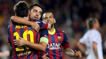 Xavi gratuluje Messiemu