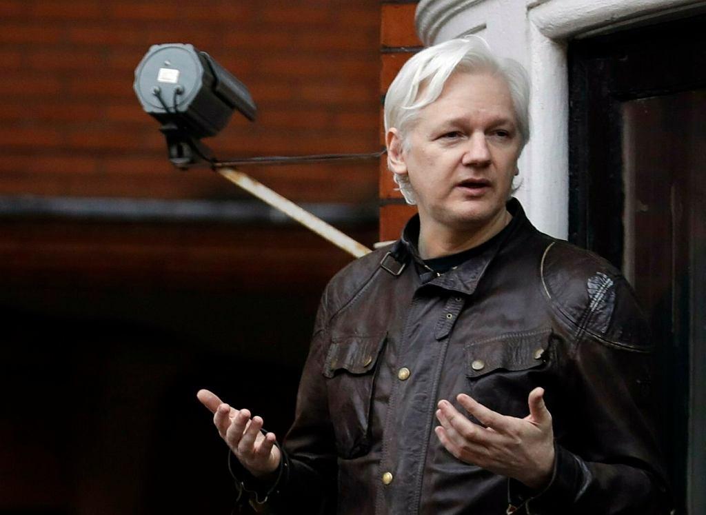 Julian Assange, zdj. z 2017 roku