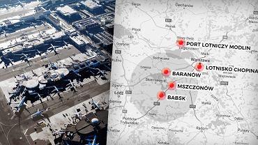 Potencjalne lokalizacje Centralnego Portu Lotniczego