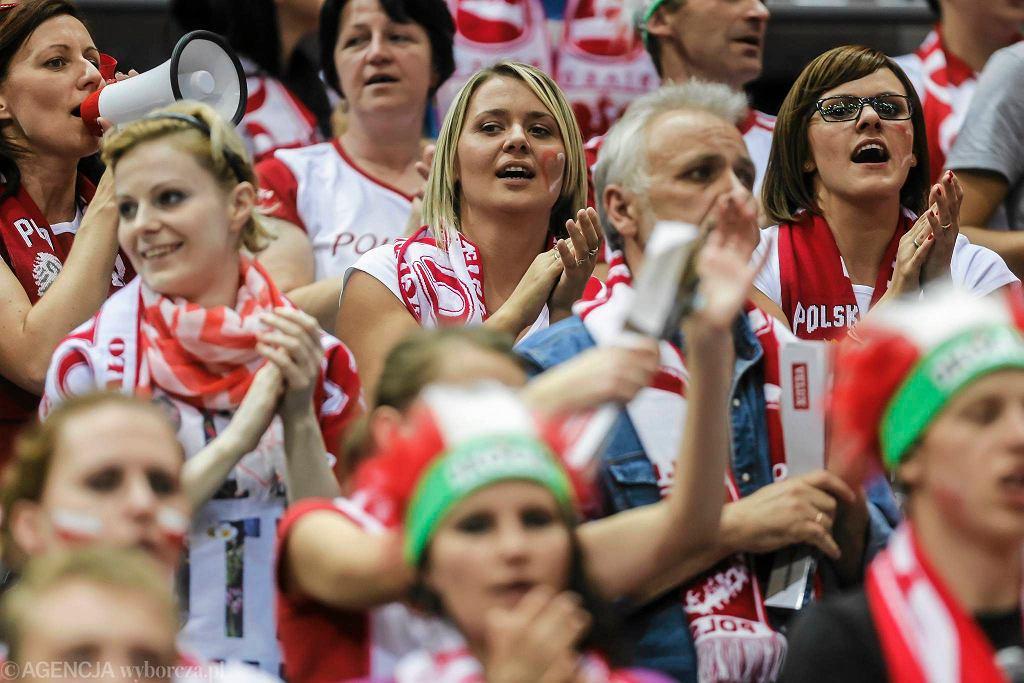 Kibice na meczu Polska - Słowacja