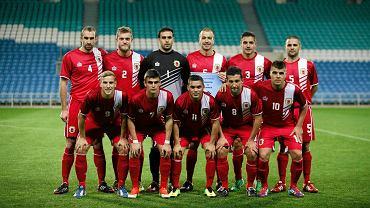 Reprezentacja Gibraltaru pozuje przed meczem