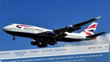 Linie British Airways zamykają polską wersję strony internetowej