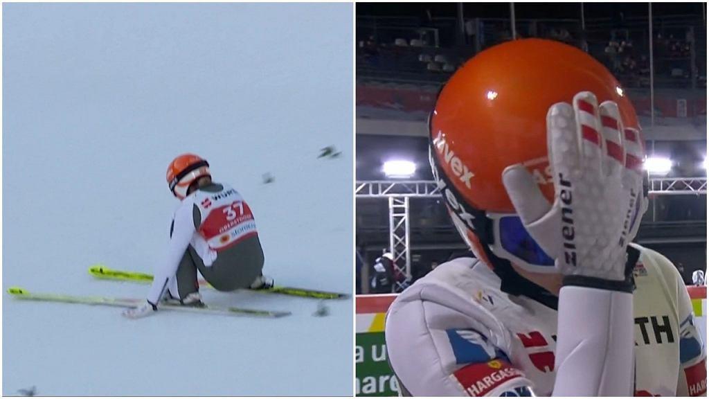 Marita Kramer najpierw skoczyła najdalej w historii obiektu w Oberstdorfie, a potem tylko poklepała się po kasku, gdy spadła z podium mistrzostw świata
