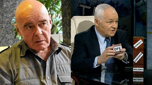 Stanisław Tym i Jan Krzysztof Bielecki w studiu TVN24