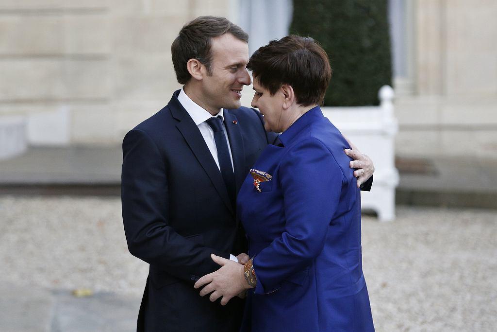 Spotkanie premier Beaty Szydło z prezydentem Francji Emmanuelem Macronem