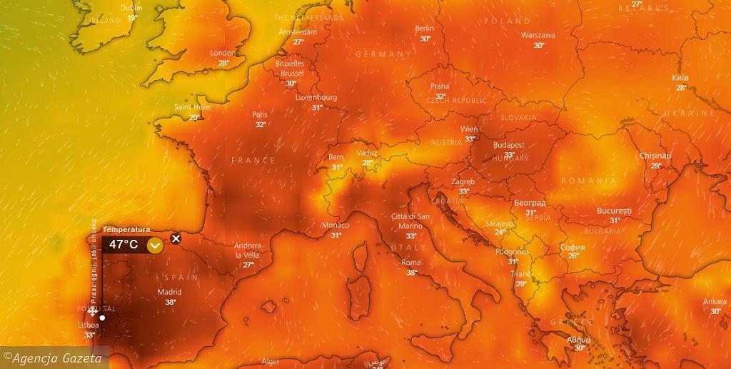 Pogoda, upały w Europie