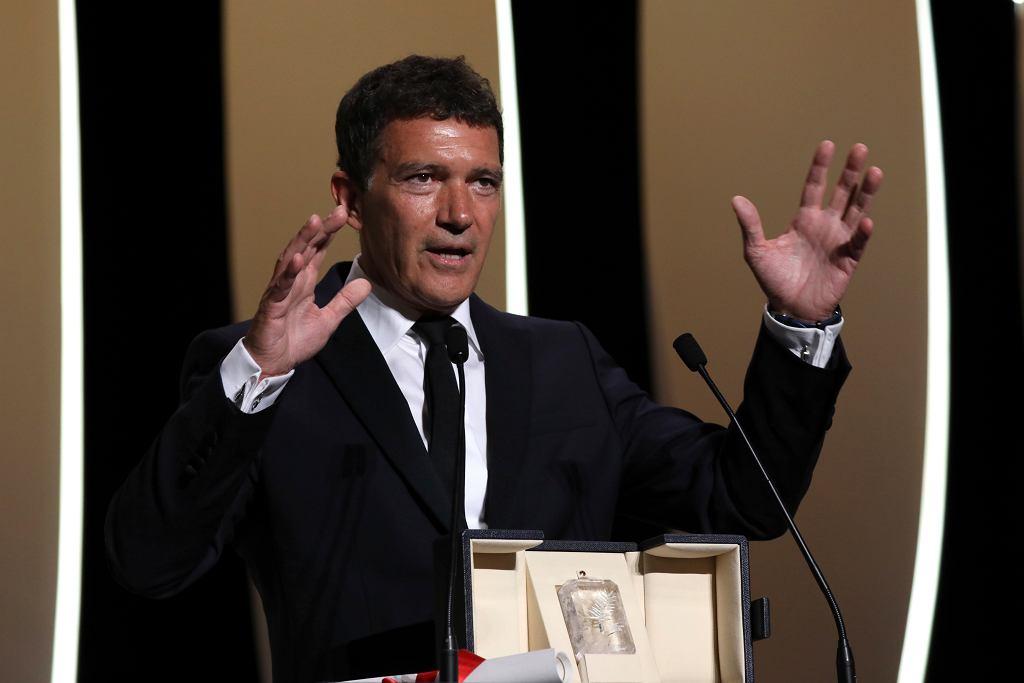 Antonio Banderas odbiera Złotą Palmę za najlepszą rolę męską