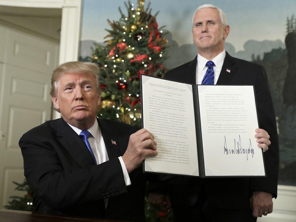 Prezydent Trump podpisał akt uznania nowej stolicy Izraela