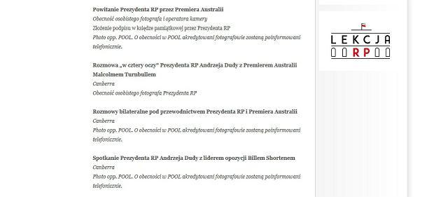 Premier Australii nie poprowadził rozmów bilateralnych z Andrzejem Dudą