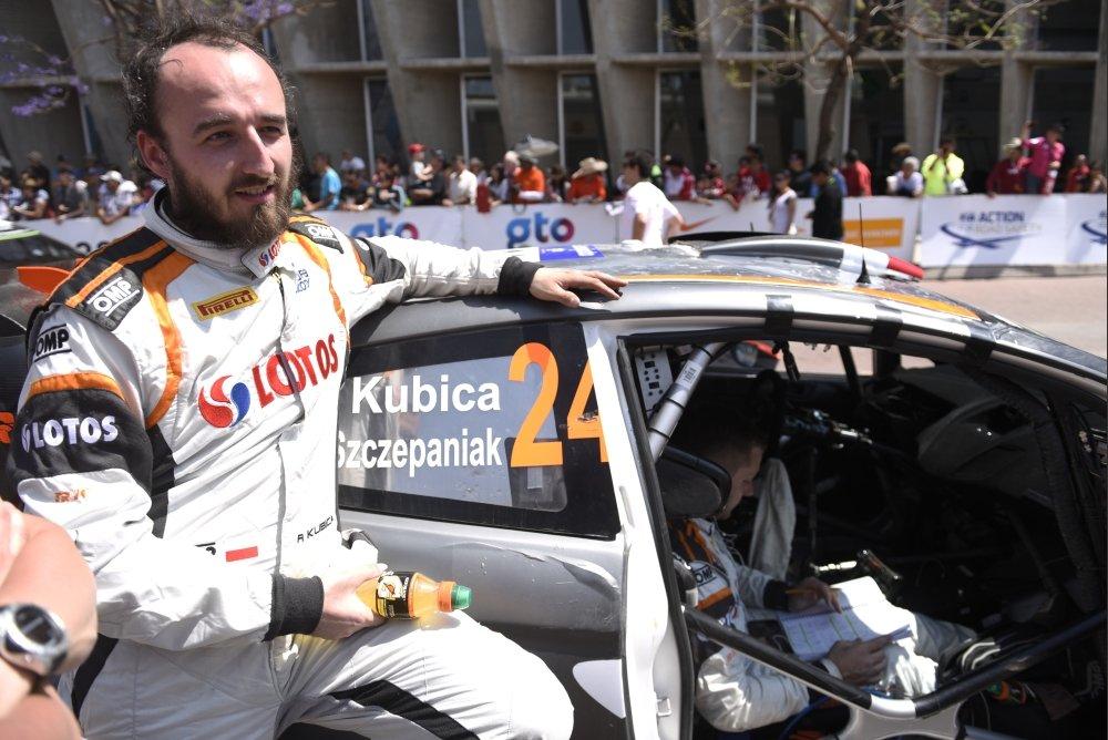 Robert Kubica podczas Rajdu Meksyku