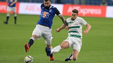 Lech Poznań - Lechia Gdańsk 3:0. Mikael Ishak (z lewej) i Mario Maloca