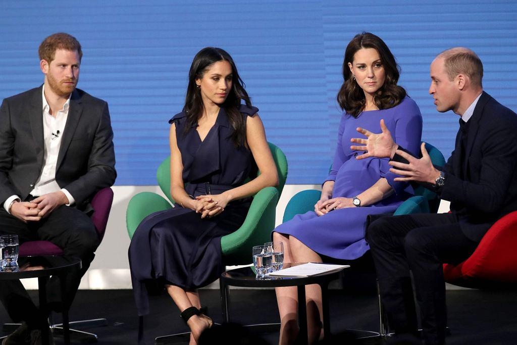 Forum Królewskiej Fundacji - książę Harry, Meghan Markle, księżna Kate i książę William
