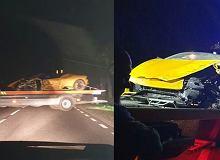Polski bramkarz wczoraj rozbił Lamborghini. Zderzył się czołowo z innym samochodem