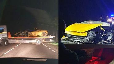 Wypadek Lamborghini