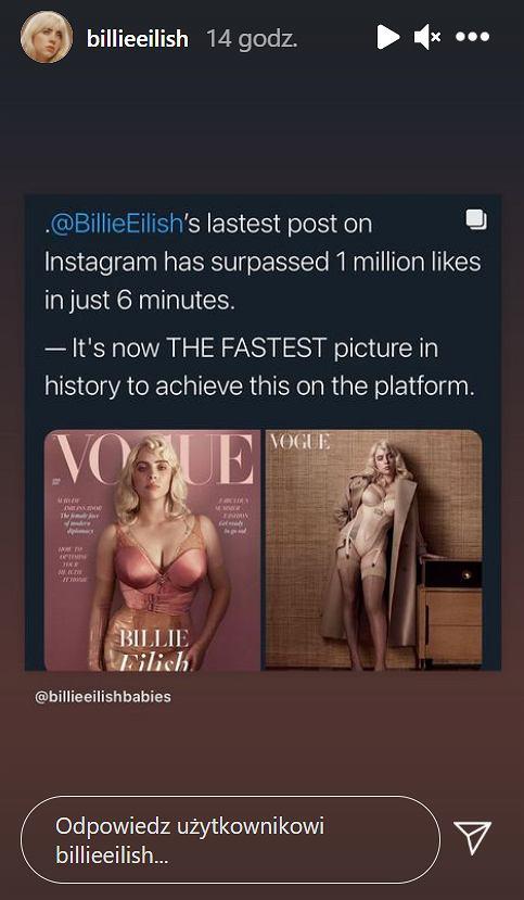 Instagramowy rekord polubień postu Billie Eilish
