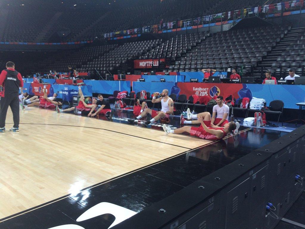Koszykarze reprezentacji po treningu w Montpellier