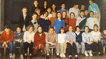 Ostatnia klasa prof. Mariana Bednarka (siedzi w środku). Trzecia z lewej w drugim rzędzie Marta Lempart