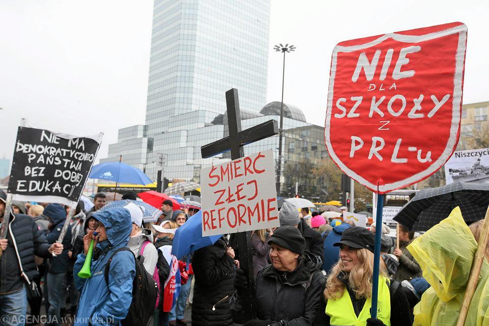 Protest ZNP przeciwko reformie edukacji, Warszawa, 10.10.2016