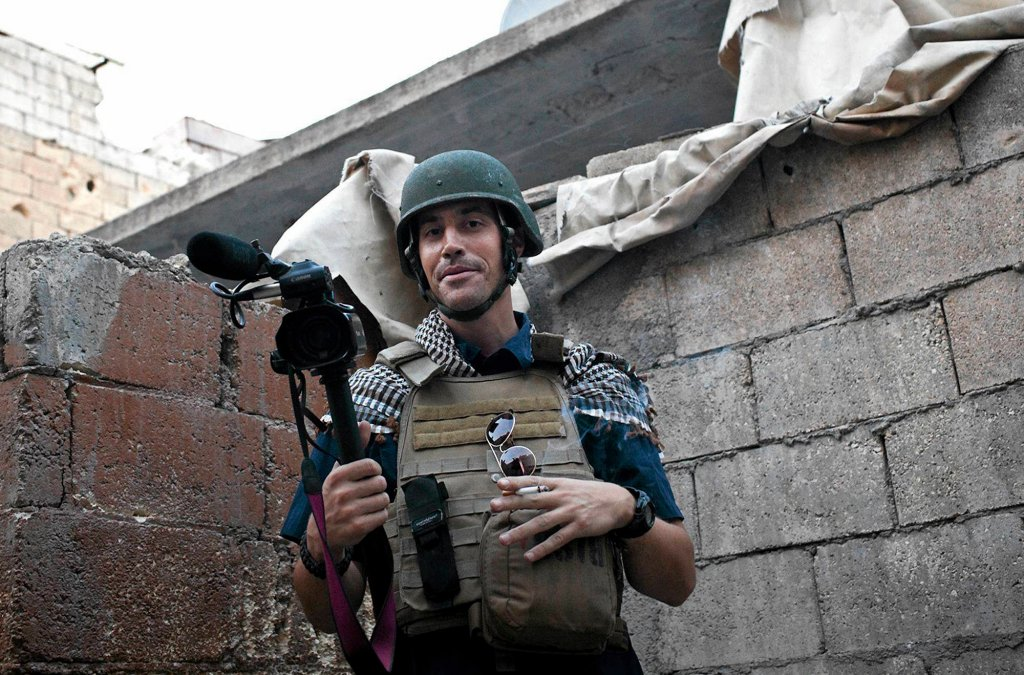 Dziennikarz James Foley w listopadzie 2012 r. w Syrii