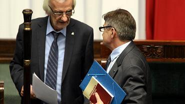 Wicemarszałek Sejmu Ryszard Terlecki i marszałek Sejmu Marek Kuchciński