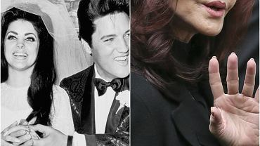 """Priscilla Presley dała się poznać jako piękna żona Elvisa Presley'a i fanka chirurgii estetycznej. Dzięki tej drugiej w przeciągu kilkunastu lat aktorka """"Nagiej broni"""" zmieniła w tak dużym stopniu, że ledwo przypomina siebie. Ostatnio Presley odwiedziła brytyjski program telewizyjny, aby promować wydanie płyty z największymi hitami Króla Rocka. Uwagę zwracał jej odmieniony wygląd, którego internauci nie wahali się komentować. Zobaczcie jak zmieniała się żona Presleya!"""