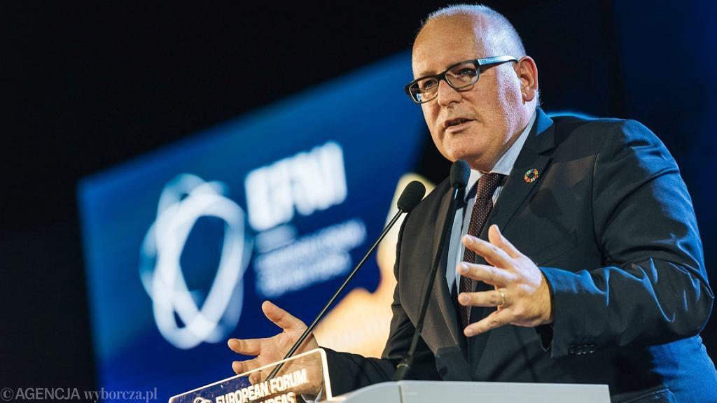 Pierwszy Wiceprzewodniczący Komisji Europejskiej Frans Timmermans (fot. Bartosz Bańka/AG)