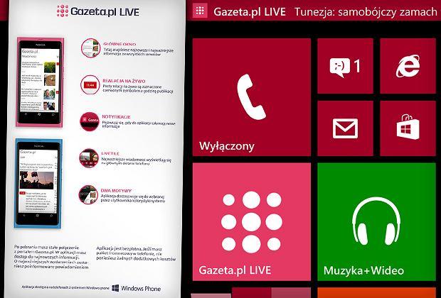 Gazeta.pl LIVE na Windows Phone