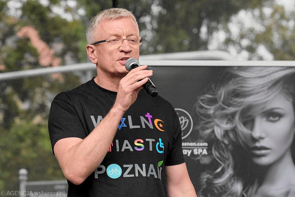 Prezydent Poznania Jacek Jaśkowiak podczas Marszu Równości w 2017 r.