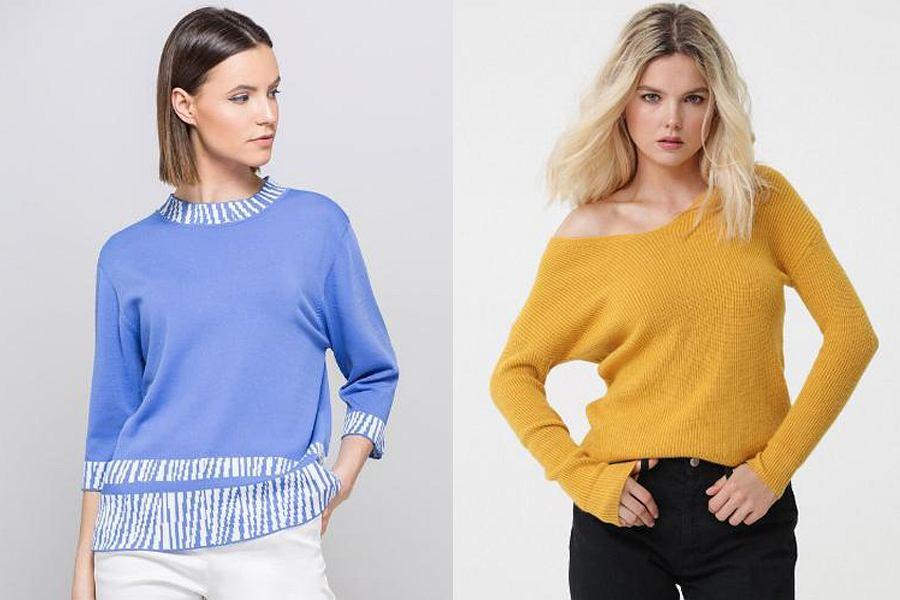 Kolorowe swetry na jesień