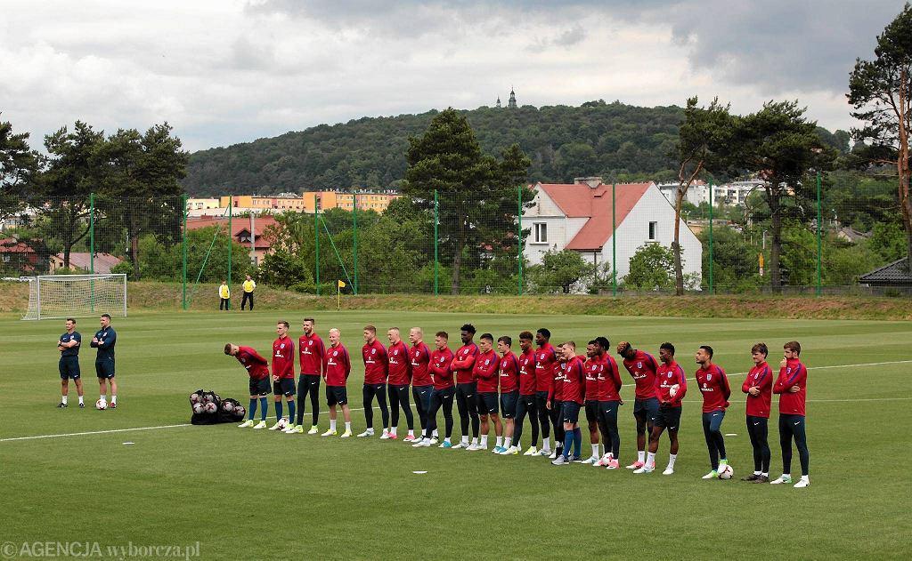 Kielce 13.06.2017, młodzieżowa reprezentacja Anglii na boisku przy ul. Kusocińskiego