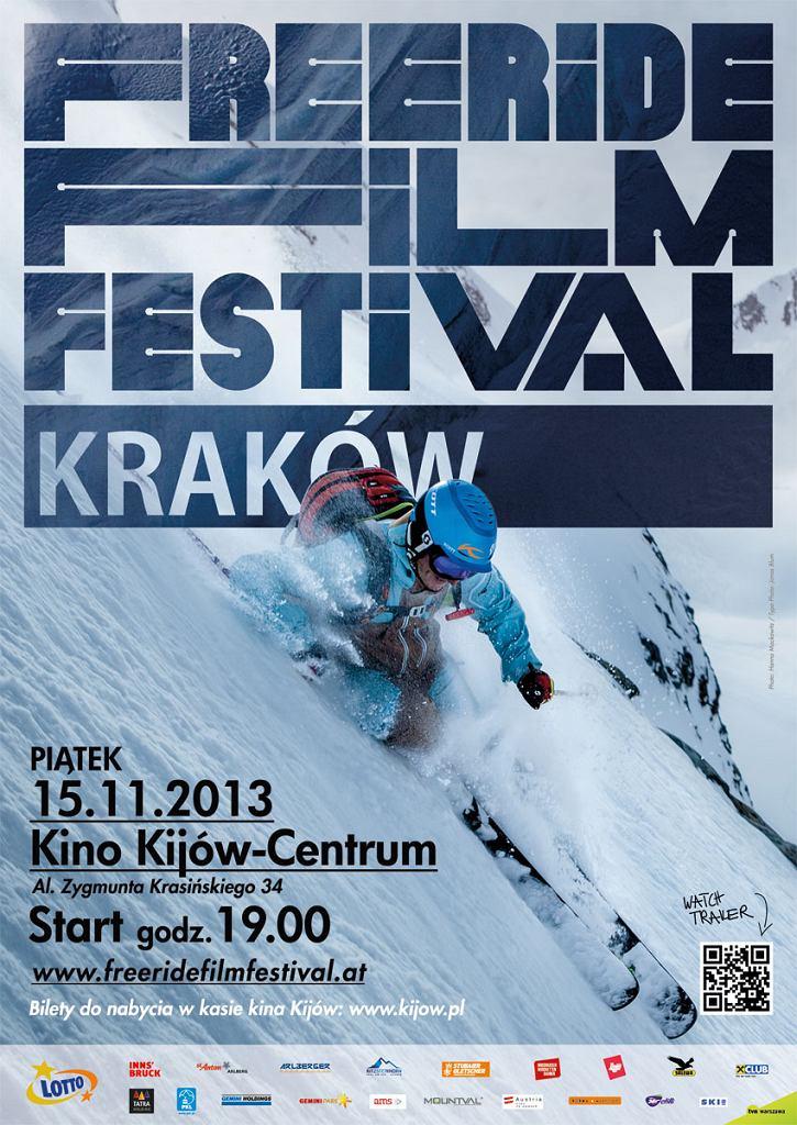 Plakat promujący Freeride Film Festival 2013