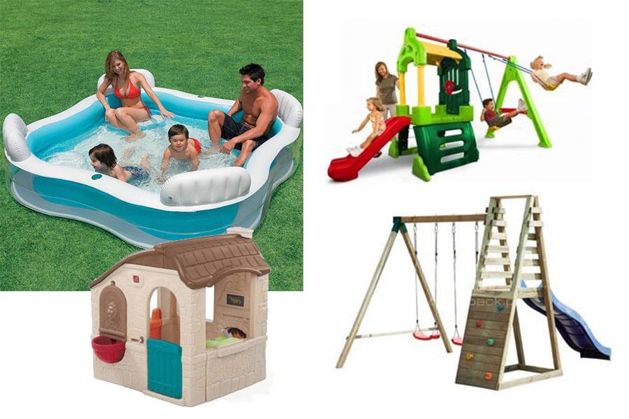 Zabawa w ogrodzie lub na działce