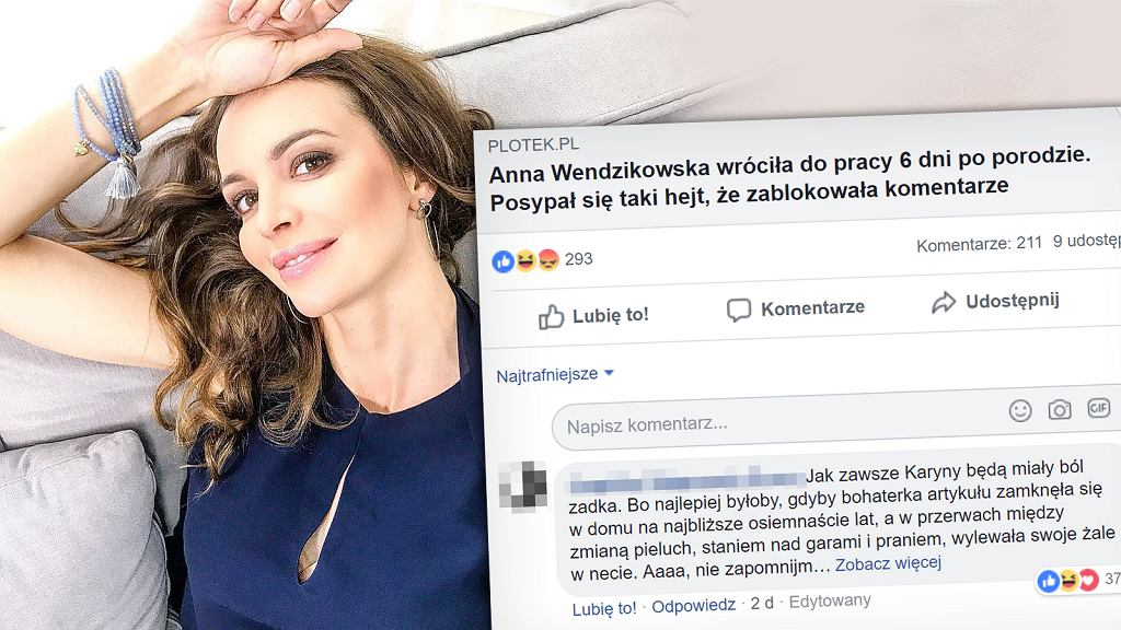 Anna Wendzikowska w niecały tydzień po porodzie wróciła do pracy za to spadła na nią fala hejtu