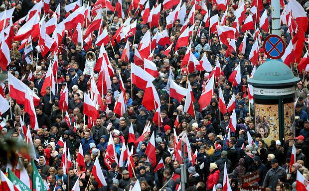11.11.2018 Warszawa. Marsz Niepodległości