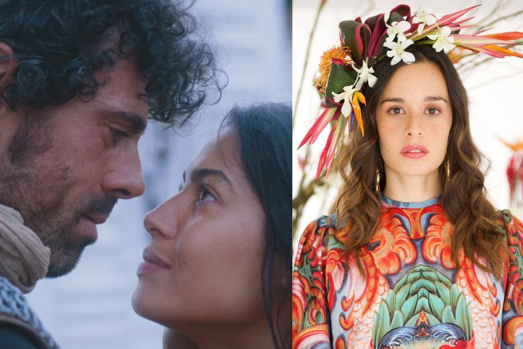 'Królowa i konkwistador'. Essined Aponte, Emmanuel Esparza - aktorzy, grający główne role w serialu. Catalina Garciia, wokalistka śpiewająca piosenkę tytułową.