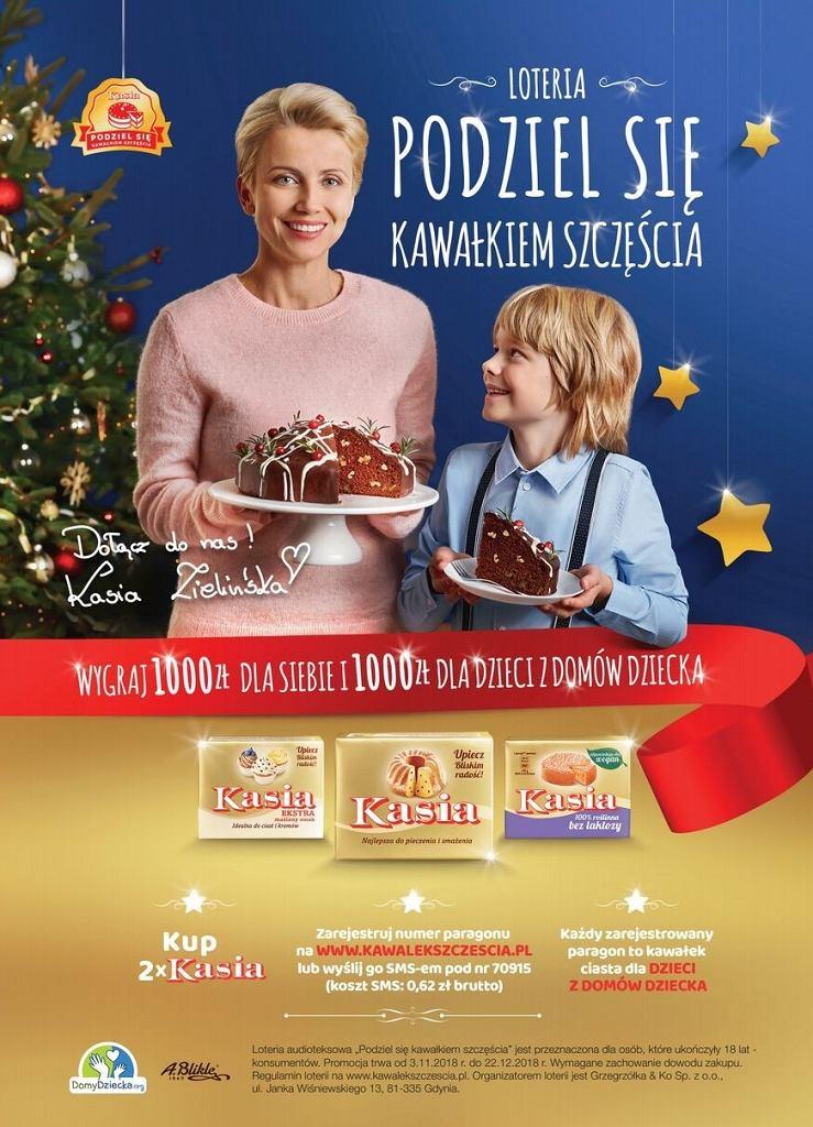 'Podziel się kawałkiem szczęścia' - świąteczna akcja marki Kasia dla dzieci z domów dziecka