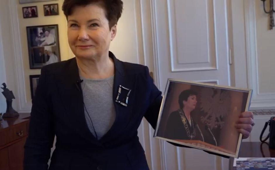 Hanna Gronkiewicz-Waltz żegna się z warszawiakami